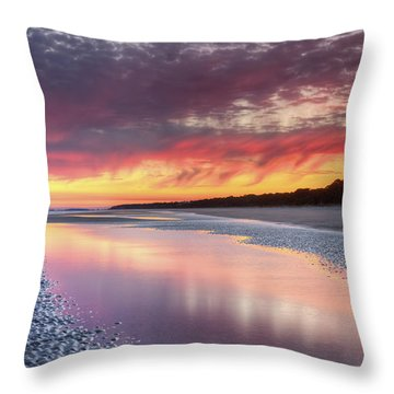 Same Night Six Fifteen Throw Pillow by Phill Doherty