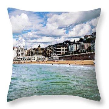San Sebastian Throw Pillow by Tetyana Kokhanets