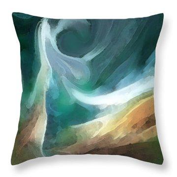 Sand And Sea Throw Pillow by Carol Cavalaris