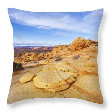 Sandstone Wonders Throw Pillow by Chad Dutson