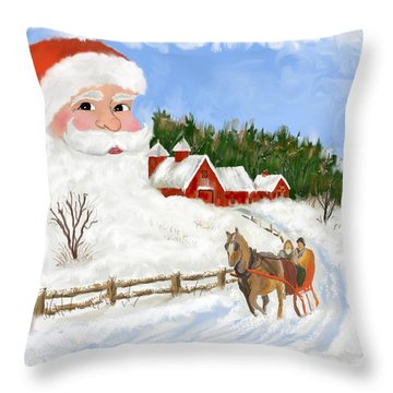 Santas Beard Throw Pillow by Susan Kinney