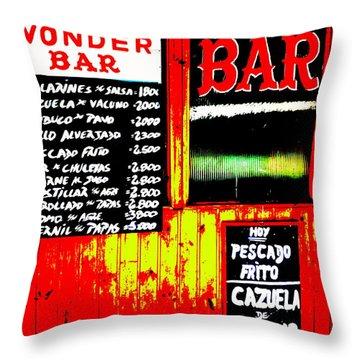 Santiago's Wonder Bar  Throw Pillow by Funkpix Photo Hunter