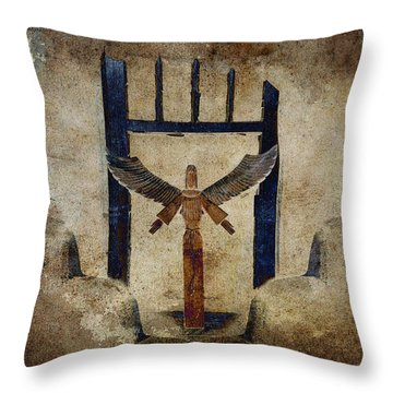 Santo Throw Pillow by Carol Leigh