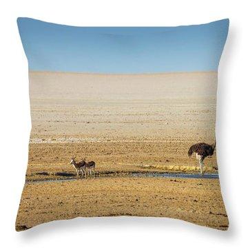 Savanna Life Throw Pillow by Inge Johnsson