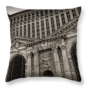 Save The Depot - Michigan Central Station Corktown - Detroit Michigan Throw Pillow by Gordon Dean II