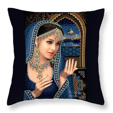 Scheherazade Throw Pillow by Stoyanka Ivanova