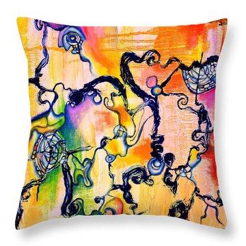 Schlieren Chiarascuro Throw Pillow by Regina Valluzzi