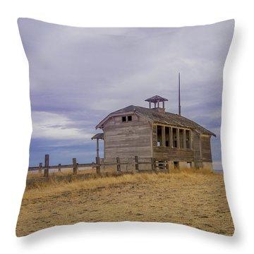 School House Throw Pillow by Jean Noren