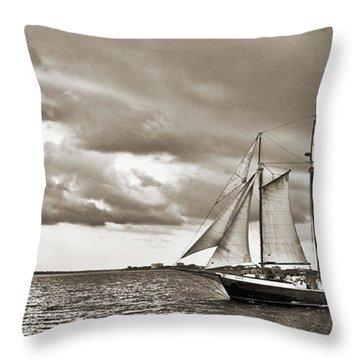 Schooner Pride Tallship Charleston Sc Throw Pillow by Dustin K Ryan