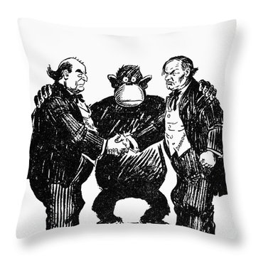 Scopes Trial Cartoon 1925 Throw Pillow by Granger