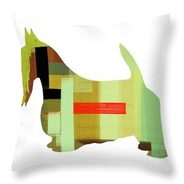 Scottish Terrier Throw Pillow by Naxart Studio