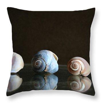 Sea Snails Throw Pillow by Linda Sannuti
