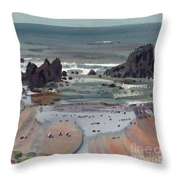 Seal Rock Oregon Throw Pillow by Donald Maier