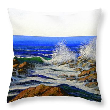 Seascape Study 4 Throw Pillow by Frank Wilson
