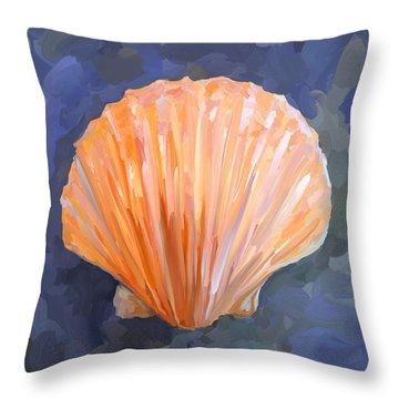 Seashell I Throw Pillow by Jai Johnson