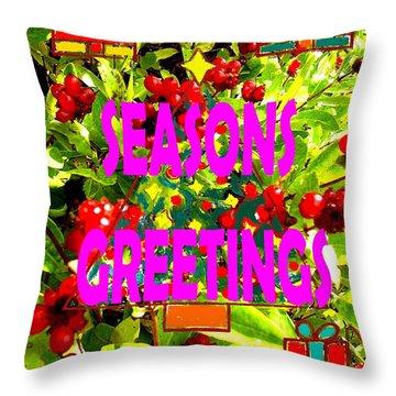 Seasons Greetings 10 Throw Pillow by Patrick J Murphy