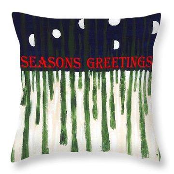 Seasons Greetings 2 Throw Pillow by Patrick J Murphy