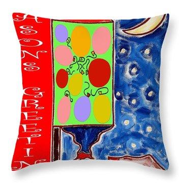 Seasons Greetings 60 Throw Pillow by Patrick J Murphy