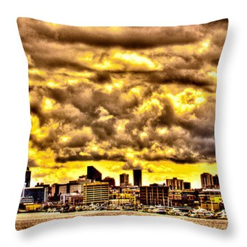 Seattle Cityscape IIi Throw Pillow by David Patterson