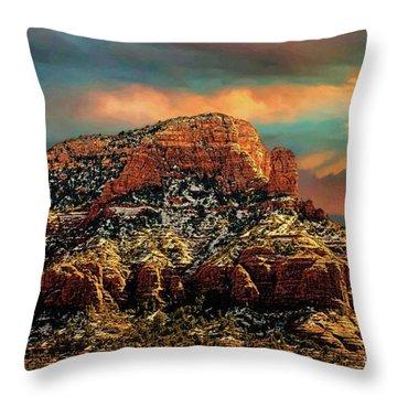Sedona Dawn Throw Pillow by Jon Burch Photography