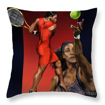 Sensuality Under Extreme Power - Serena The Shape Of Things To Come Throw Pillow by Reggie Duffie