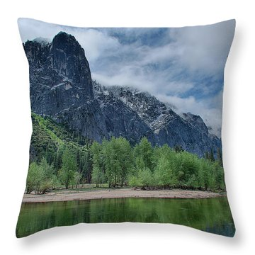 Sentinel Rock After The Storm Throw Pillow by Bill Roberts