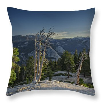 Sentinel's Summit Throw Pillow by Rick Berk