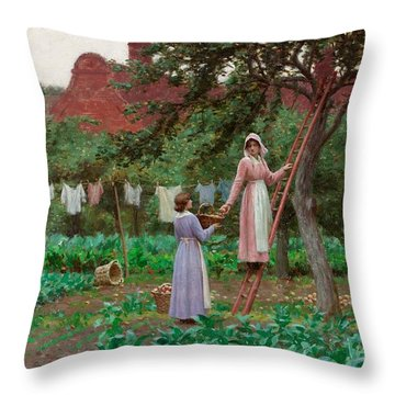 September Throw Pillow by Edmund Blair Leighton