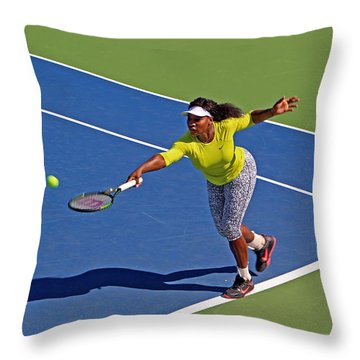 Serena Williams 1 Throw Pillow by Nishanth Gopinathan
