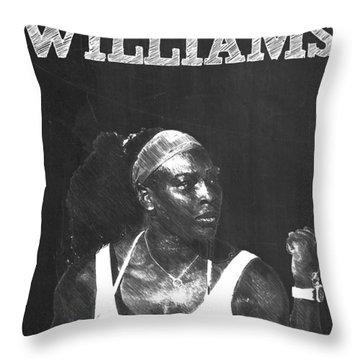 Serena Williams Throw Pillow by Semih Yurdabak