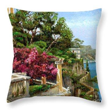 Serene Sorrento Throw Pillow by Trevor Neal