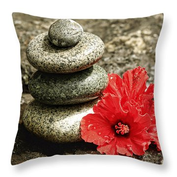 Serenity Throw Pillow by Cheryl Young