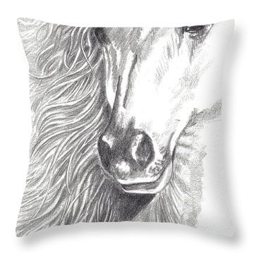 Serenity Throw Pillow by Kate Black