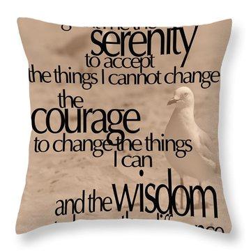 Serenity Prayer 04 Throw Pillow by Vicki Ferrari