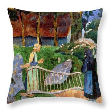 Serusier: Barriere, 1889 Throw Pillow by Granger