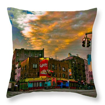 Seventh And Bleeker At Sunrise Nyc Throw Pillow by Chris Lord