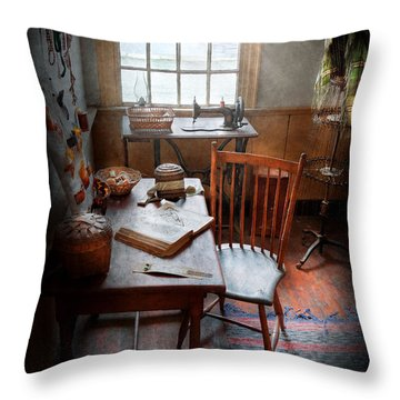 Sewing - I Dream About The Ocean  Throw Pillow by Mike Savad