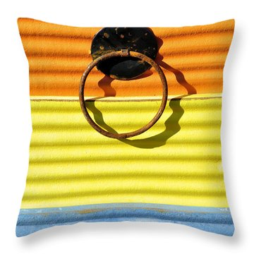 Shadow Waves Throw Pillow by Jan Amiss Photography