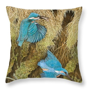 Sharing The Caring Throw Pillow by Pat Scott
