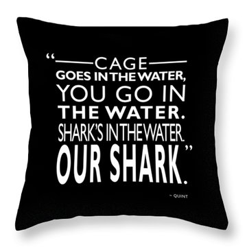 Sharks In The Water Throw Pillow by Mark Rogan