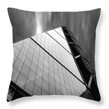 Sharp Angles Throw Pillow by Martin Newman