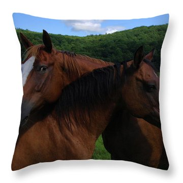 She Is Mine Throw Pillow by Karol Livote