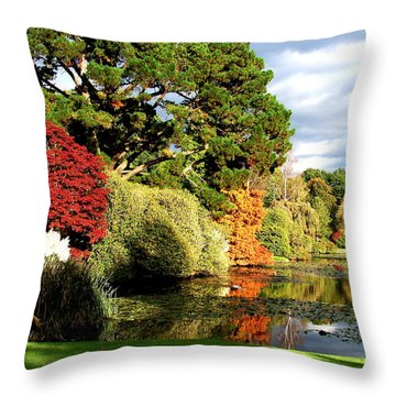 Sheffield Park Throw Pillow by Nicola Butt