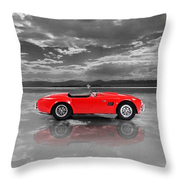 Shelby Cobra 1965 Throw Pillow by Mark Rogan