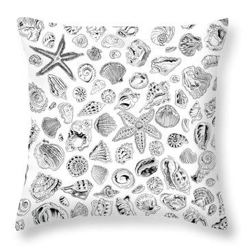 Shells Throw Pillow by John Keaton