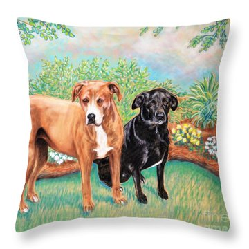 Shelter Rescued And Loved Throw Pillow by Patricia L Davidson