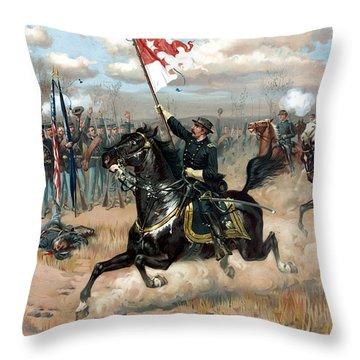 Sheridan's Ride Throw Pillow by War Is Hell Store