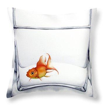 Shiny Throw Pillow by Christina Meeusen