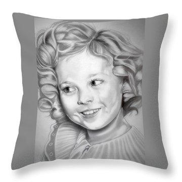 Shirley Temple Throw Pillow by Fred Larucci