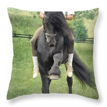 Showing Off Throw Pillow by Fran J Scott